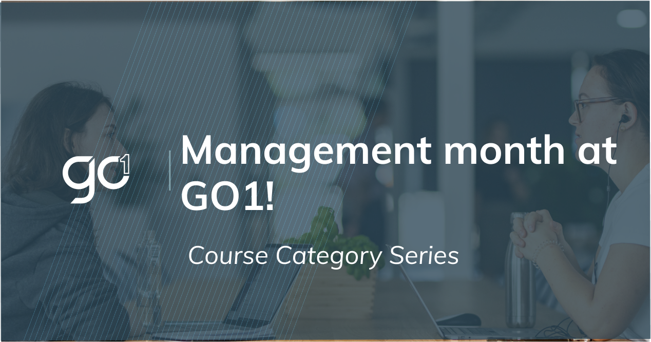 Course Category of the Month - July: Management