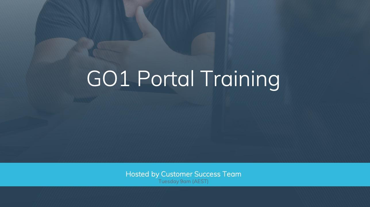 Webinar Catchup: GO1 Portal Training