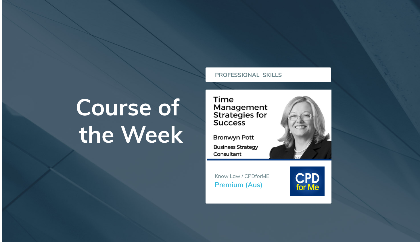 Course of the Week: CPD Professional Skills